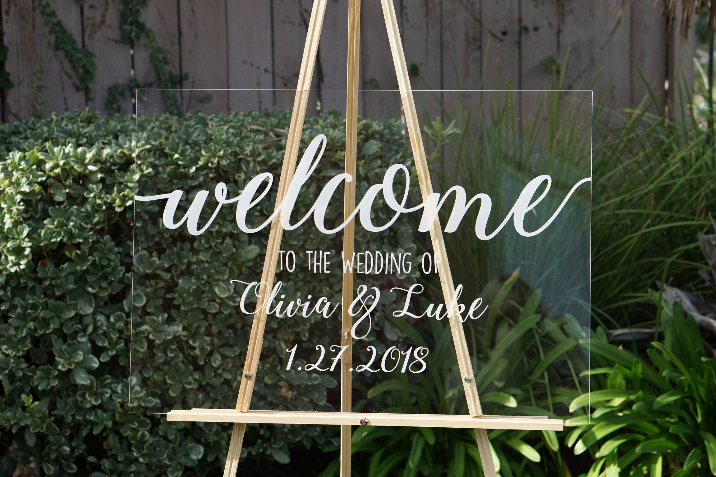 Clear wedding welcome sign wedding signs personalized sign modern clear wedding welcome sign wedding signs personalized sign modern wedding decoration sign clear acrylic welcome sign junglespirit Choice Image