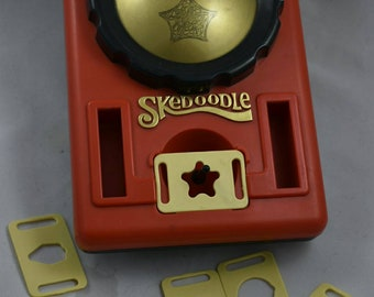 Etch and Sketch Toy Vintage Skedoodle with Shape Inserts Hasbro 1979 Learn to Draw Toy Educational Tool