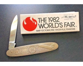 Vintage1982 Worlds  Fair Single Blade Pocket Knife
