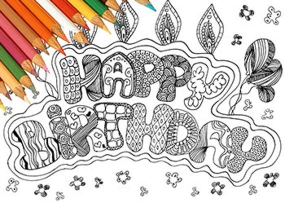 fiesta de cumpleanos para colorear - Ukran.agdiffusion.com