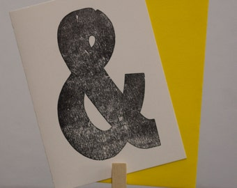 Ampersand Letterpress Card by MLK&toast