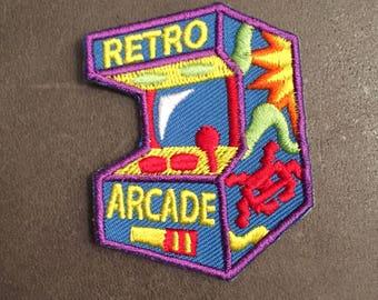 Retro Arcade Merit Badge Quarters Coin Operated Video Game Patch
