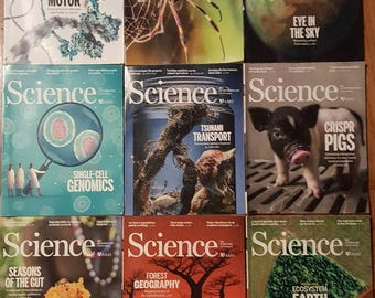 Bundle of 10 Back Issues of SCIENCE Magazine. The publishing date for these ranges April to November 2017