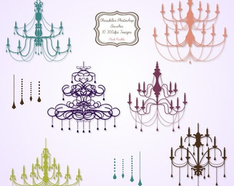 Chandelier Photoshop Brushes - Commercial and Personal