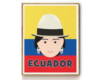 Nursery Prints . Ecuadorian Nursery Art .  Ecuador Nursery Wall Art . Childrens Art . Childrens Wall Art . Kids Wall Art . KP0056