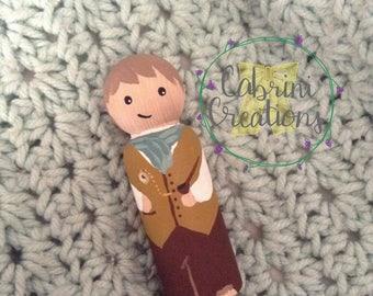 Bilbo Peg Doll Hobbit Peg Doll The Hobbit Lord of the Rings