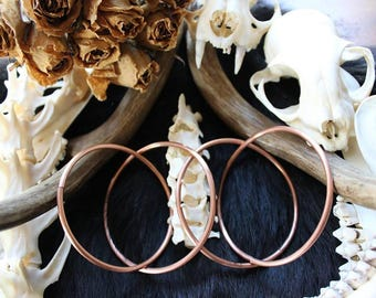 8G Copper hoops
