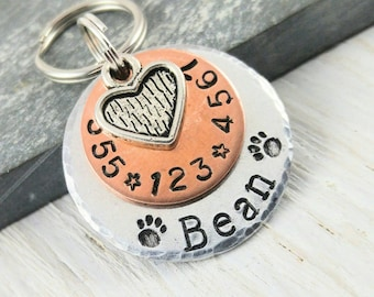 Pet ID Tag Cat Id Tag Dog ID Tag for Dogs New Puppy Announcement Cat Name Tag Dog Lover Gift Stocking Stuffer