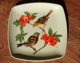 plate decorative bird vintage
