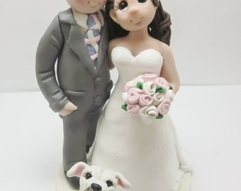 Custom Wedding Cake Topper with Pets