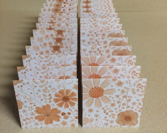 Mini Cards 24 Flowers - blank for thank you notes 3 x 3