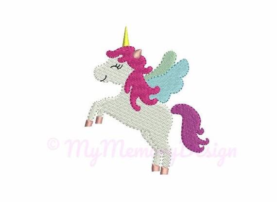 Mini Embroidery Designs Unicorn Embroidery Design 4 Size