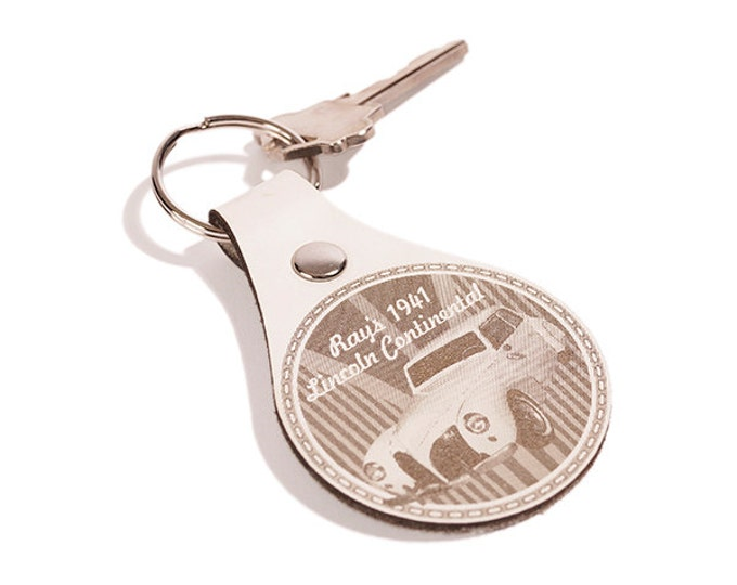 CAR CLUB LOGO Key Chain - Key Fob Custom- My Car Club- Personalized Engraved Leather Key Rings