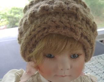 Handmade alpaca newborn hat