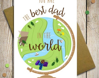 Fathers Day Card , card for dad, dad birthday, happy fathers day, thanks dad, husband card, funny fathers day card, you are the best dad
