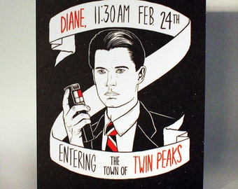Twin Peaks Agent Dale Cooper Greeting Card