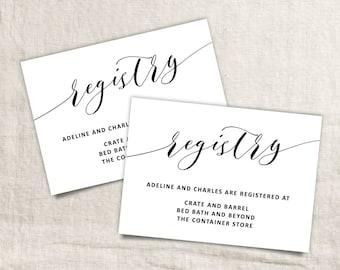 Printable Wedding Registry Card | Wedding Info Card Template | Printable Registry Card | Wedding Registry | Registry Card Template