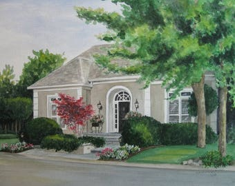 CUSTOM WATERCOLOR HOUSE Painting by Suzanne Churchill From Your Photo, Realtor Closing Gift, Wedding or Parents Gift, Gift Certificate
