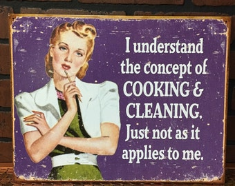 The Concept of Cooking and Cleaning!