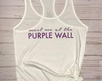 Meet Me At The Purple Wall Disney Tank, Disney Tank, Magic Kingdom Tank, Princess Tank