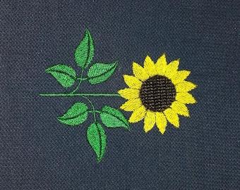 Machine embroidery design flowers Sunflower