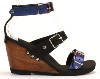 High Triple Strap Sandal - Responsibly Made in the USA - Cruelty Free - Eco Friendly