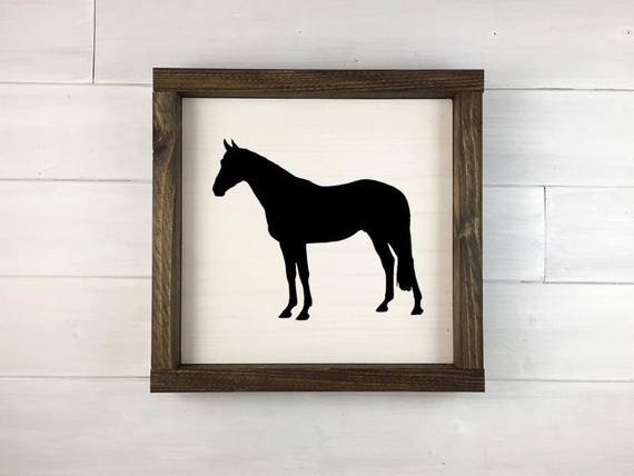 Horse Wood Sign Horse Sign Kitchen Decor Farmhouse Decor