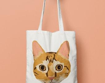 Orange Cat Tote
