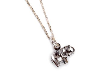 Silver Miniature Elephant Necklace, Elephant Necklace, Elephant Jewellery
