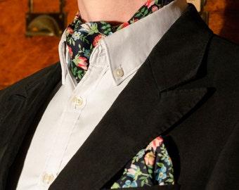 Gents Floral Liberty Print Cravat