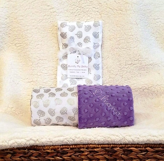 Baby Girl Princess Crown Blanket Name Embroidery Minky Gift
