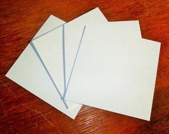4 x 4 Art Tiles Zentangle Blanks 110 lb White Paper High Quality Blank Art Card