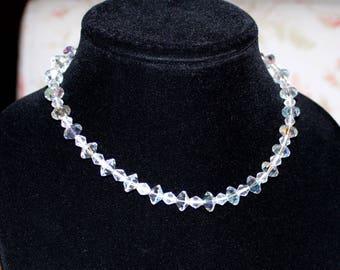 Gorgeous, Vintage Iridescent Swarovski Crystal Necklace