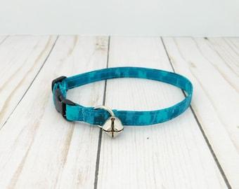 Blue Cat Collar, Blue Icing Dog Collar, Teal Dog Collar, Christmas Dog Collar, Cat Christmas Collar, Small Dog Collar, Large Dog Collar