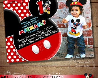 Mickey Mouse 2nd Birthday Invitation Etsy