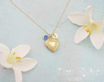 Choose gold, silver or rose gold heart locket necklace Sweet and elegant locket necklace