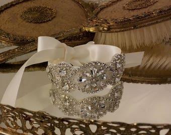 Silver Bridal Cuff Bridesmaid Bracelet Wedding Cuff Crystal Rose Gold Wedding Cuff Bridal Party Gift Prom Bridesmaid Gift Bridal Gift