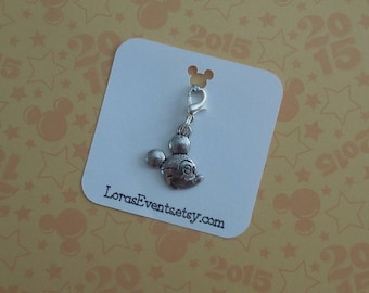 Silver Mickey Mouse Zipper Pull - Minnie Mouse Zipper Pull - Mickey Purse Clip - Mickey Mouse Bracelet Charm
