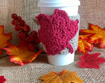 Fall Maple Leaf Cup Cozy