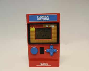 Flaming Inferno Handheld Video Game - by Playtime 1988 - with box and instructions