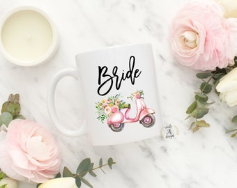 Bride Coffee Mug - Bridal Party Gifts, Bridal Shower Gift, Gifts for Her, Bride Coffee Cup, Wedding Gift, Engagement Gift, Engaged Mug, m-99