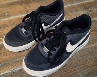 Retro vintage 90s classic NIKE Air Force 1 grey black white chunky trainers sneakers shoes skate hip hop adidas