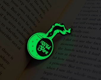 Wild Fire Pin, Glow in the Dark,Game of Thrones Pins, Limited Edition, Soft Enamel Lapel