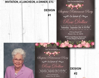 WOMENS BIRTHDAY INVITATION, Adult Birthday Invite, Printable Adult Birthday Invitation, Womans 30th Birthday Invitation, Milestone Birthday