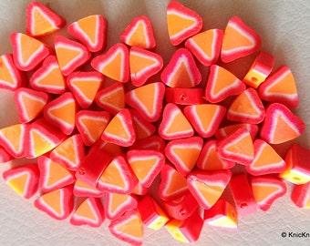 10 x Polymer Fimo Clay Fruit Strawberry Beads