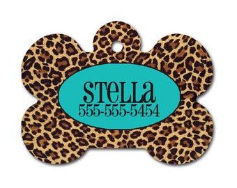 Cheetah Personalized Dog Tag for Dog- Single Sided-Monogrammed Dog Tag-Pet id Tag-Dog Name Tag-Custom Dog Tag
