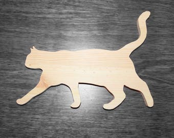 Cat wood silhouette