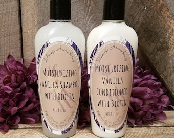 Moisturizing Vanilla with Biotin Shampoo & Conditioner,  Shampoo,  Conditioner,  Biotin Shampoo,   Conditioner,  8 oz, Set or separate