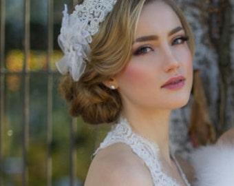 Brianna bridal snood