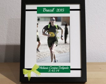 Half Marathon Gift, Gift for Marathon Runner, Marathon, Triathlon, Runner's Gift, Personalized Picture Frame, Custom Gift, Marathon Finisher